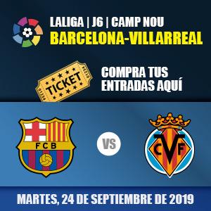 Entradas FC Barcelona - Villarreal FC